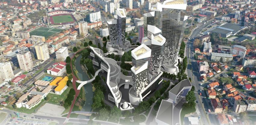 Detalji stambeno-poslovnog kompleksa Crystalico u Tuzli