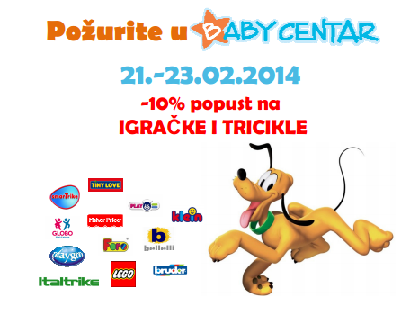 Baby Centar: Obradujte Vaše mališane i pritom uštedite!