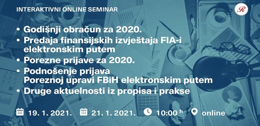"Interaktivni online seminar ""Godišnji obračun za 2020"""