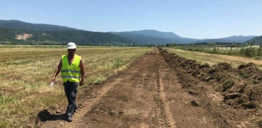 Započeli radovi na izgradnji testne piste Aerodroma Golubić u Bihaću