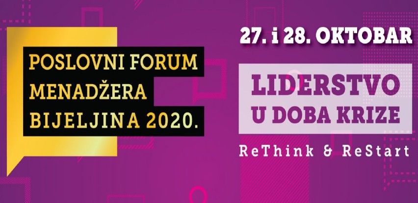 Liderstvo u doma krize: Poslovni forum menadžera 2020: ReThink & ReStart