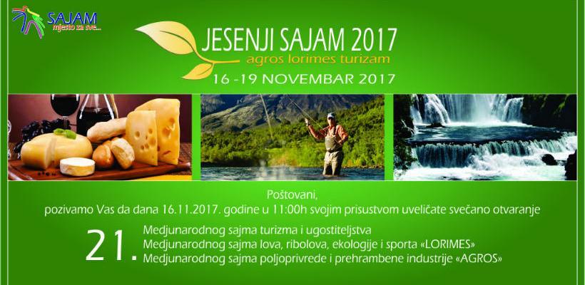 """""""Jesenji sajam 2017"""" od 16. do 19. novembra okuplja izlagače BiH i regiona"""