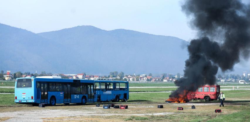"""Održana vježba """"Nesreća zrakoplova u krugu Međunarodnog aerodroma Sarajevo"""""""