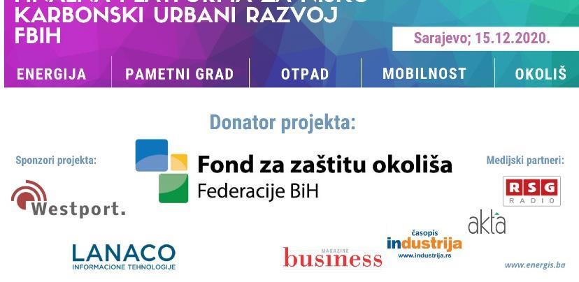 Najava novog projekta 'Platforma za nisko – karbonski urbani razvoj FBiH'