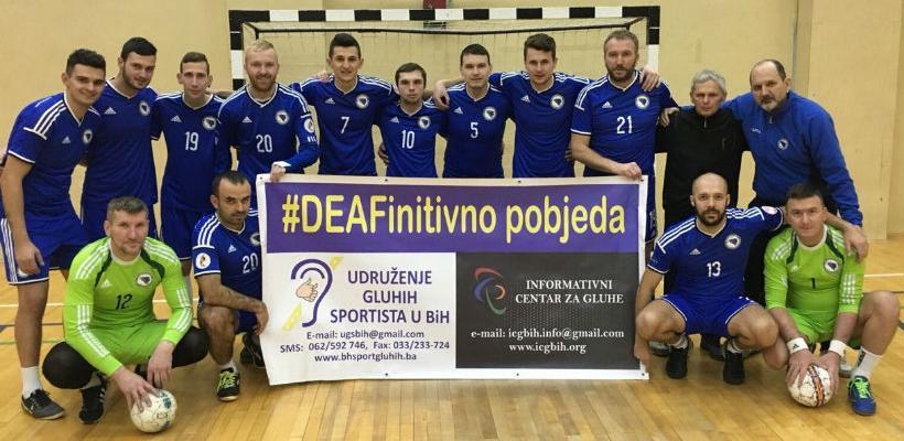 """Udruženje gluhih sportista u BiH piše historiju """"DEAFinitivno pobjeda"""""""