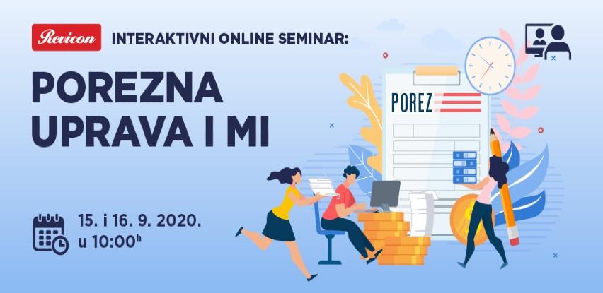 Najava seminara Revicon: Porezna uprava i mi
