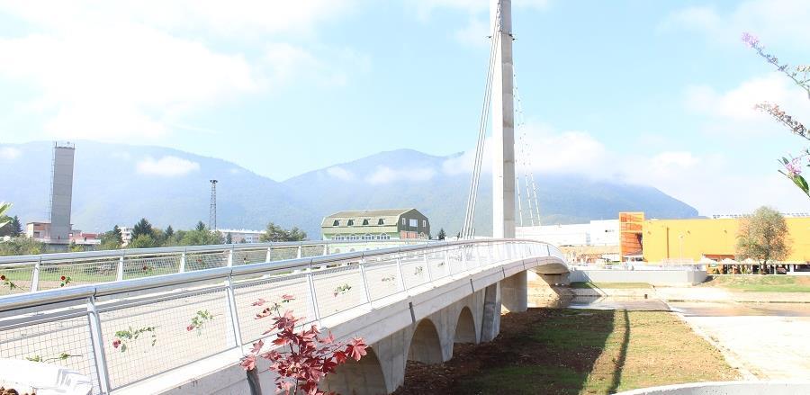 Otvoren novi pješački most na Ilidži