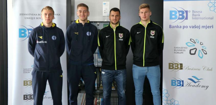 """Posjeta igrača FK """"Sarajevo"""" i FK """"Željezničar"""" BBI banci"""