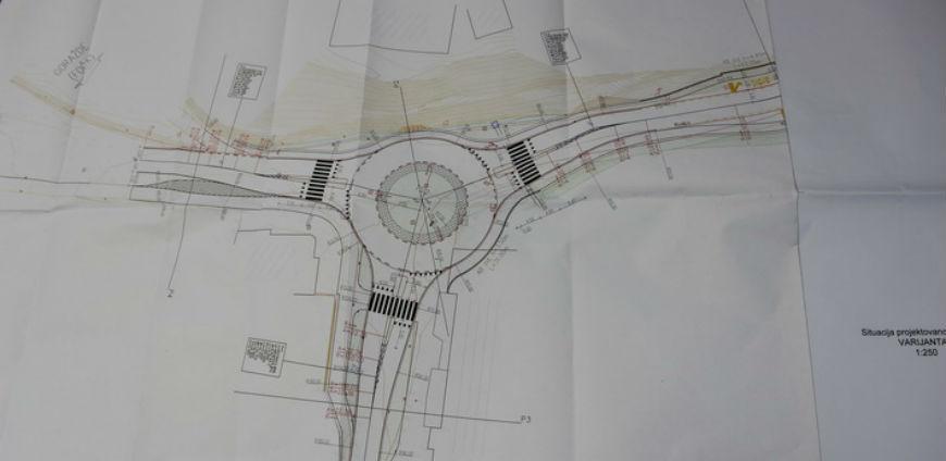 Počinje izgradnja kružnog toka u goraždanskoj ulici Maršala Tita