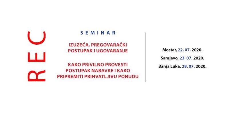 Seminar: Izuzeća, pregovarački postupak i ugovaranje