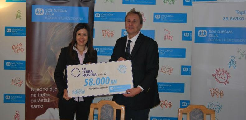 Fondacija La Terra Nostra donirala 58.000 KM SOS Dječijim selima BiH
