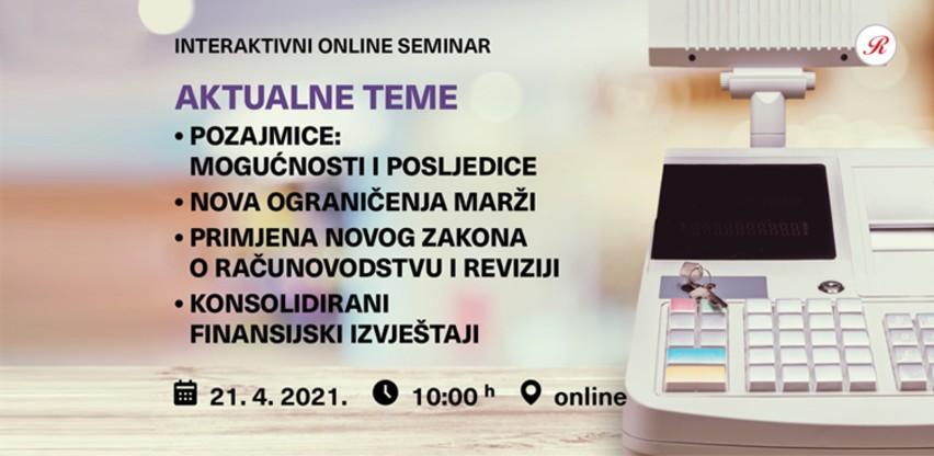 Novi interaktivni online Revicon seminar: Aktualne teme