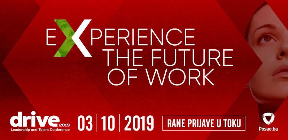 Deseta DRIVE konferencija: Experience the future of work!