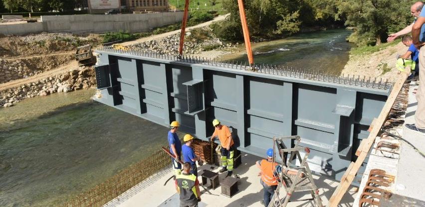 Toplice: Počela montaža konstrukcije mosta