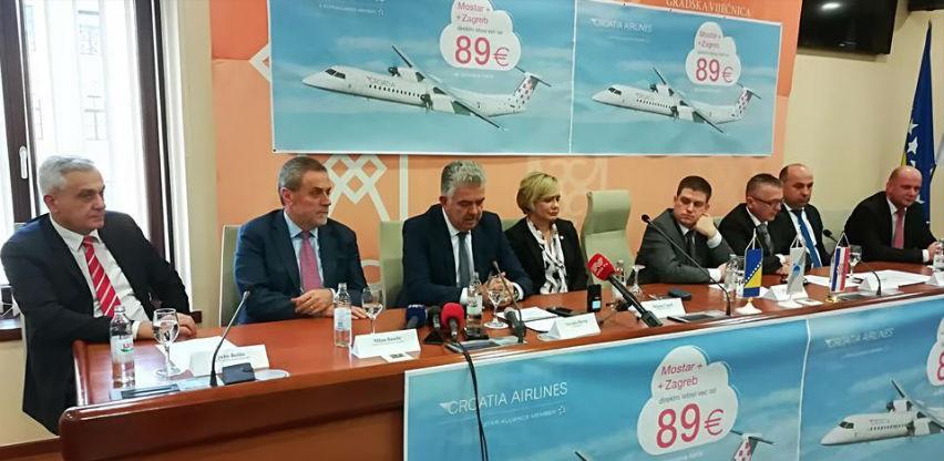 Nakon 12 godina otvara se zračna linija Zagreb-Mostar