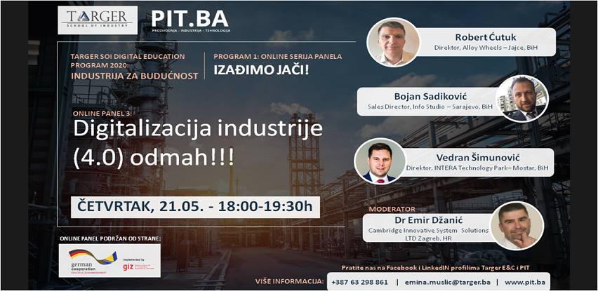 Online PIT Panel 3: Digitalizacija industrije (4.0) odmah!!!