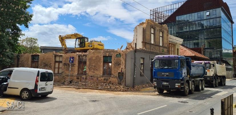 Skenderija: Srušena zgrada bivšeg hotela Gaj, gradi se novi stambeno-poslovni prostor