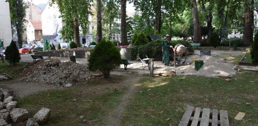 Završetak radova u parku Delibašića i Popovića ovisi o vremenskim prilikama