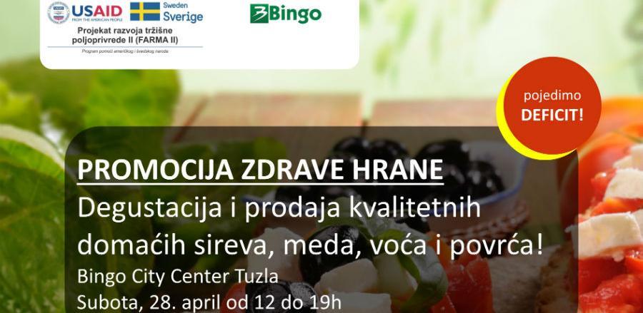 Promocija zdrave hrane u Bingo City Centru Tuzla