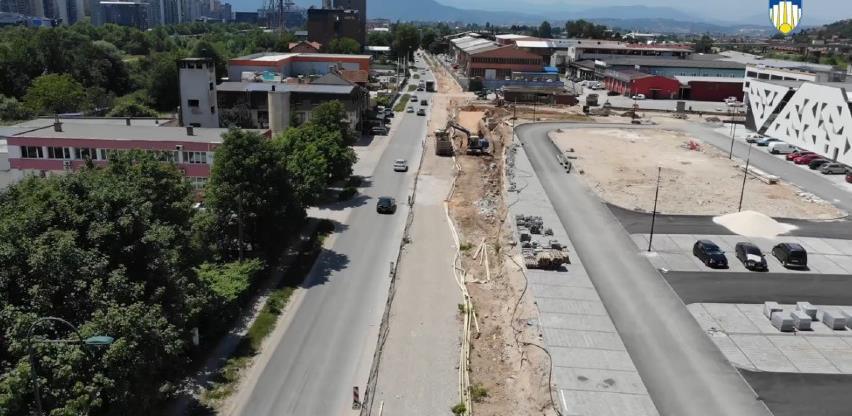 Napreduju radovi na proširenju ulice Džemala Bijedića na četiri kolovozne trake