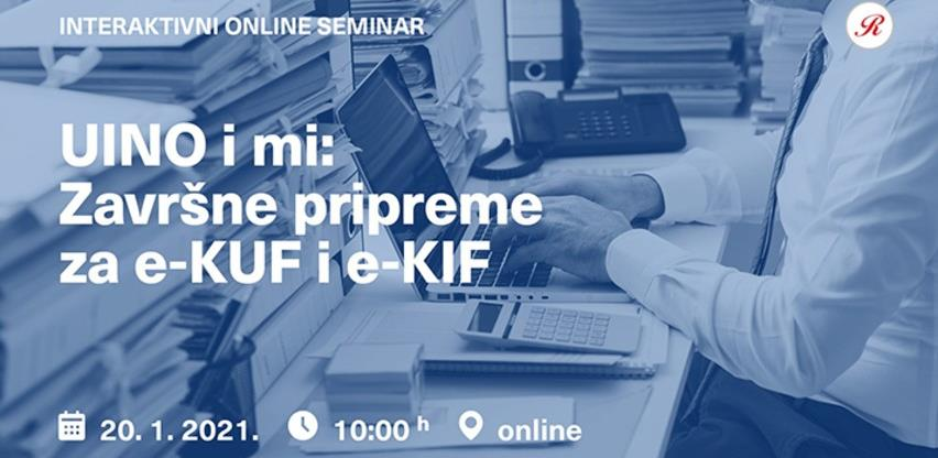 Online seminar UINO i mi: Završne pripreme za e-KUF i e-KIF