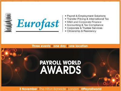 Eurofast nominovan za prestižnu nagradu Payroll World Awards 2016