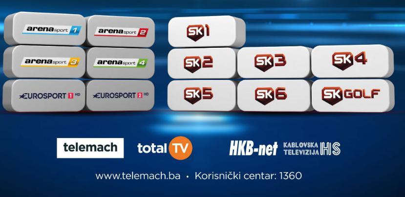 Arena Sport kanali postali su dijelom Telemach programske sheme