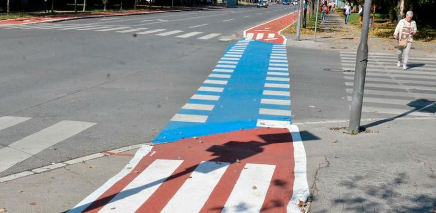 Biciklistička staza kroz Vilsonovo šetalište dobija saobraćajnu signalizaciju