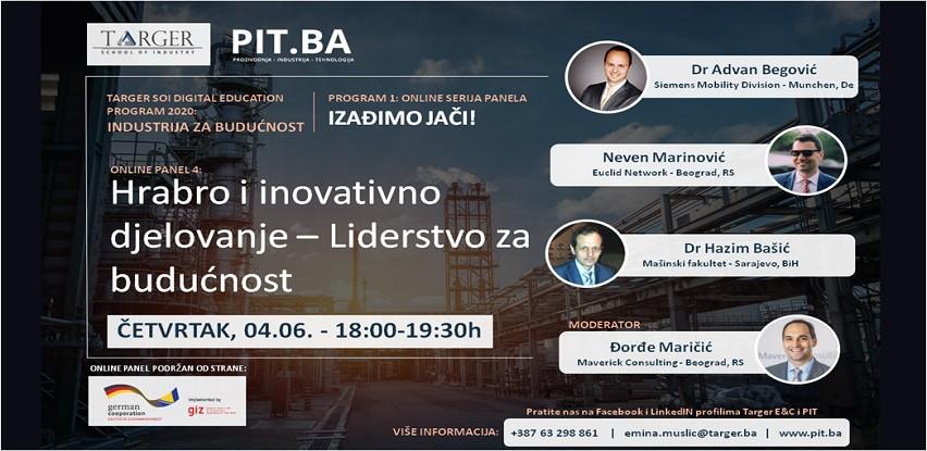 Online PIT Panel 4: Hrabro i inovativno djelovanje - Liderstvo za budućnost