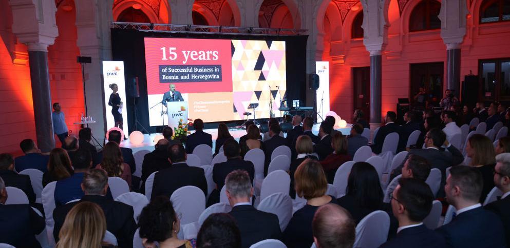 PwC proslavio 15. godišnjicu uspješnog poslovanja u BiH