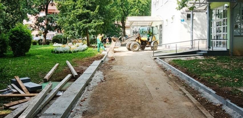 Počeli radovi na nastavku uređenja gradskog parka u Jablanici