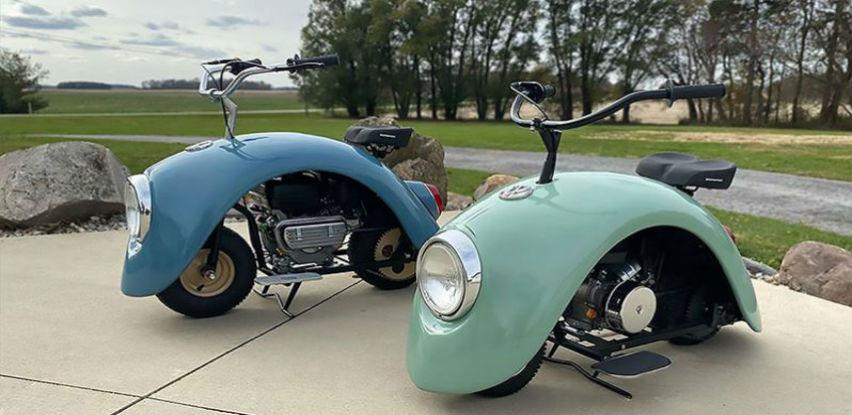 Originalna Volkswagen Beetle-Buba pretvorena u staromodni mini skuter
