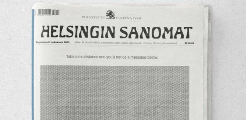 Reklamu u novinama možete pročitati samo ako ste udaljeni dva metra