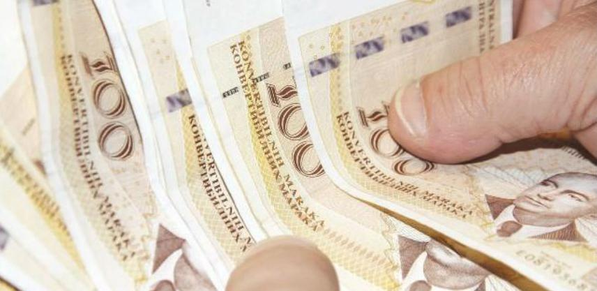 Prosječna plata u BiH u oktobru 894 KM