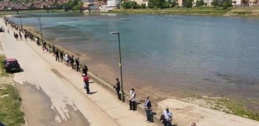 "Građani Goražda rekli ""NE"" betonskom zidu na obali Drine"