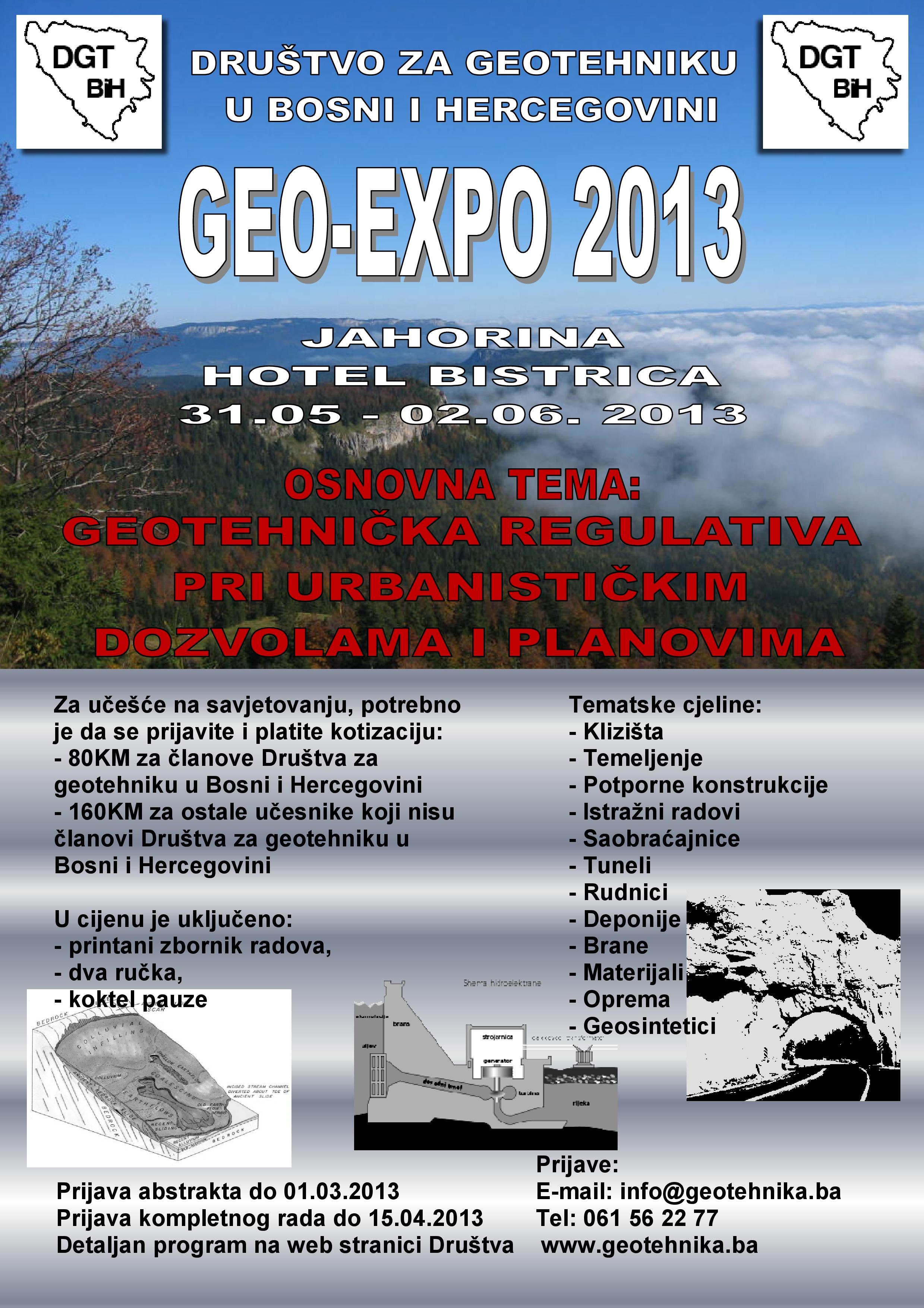 GEO-EXPO 2013, od 31.05. do 02.06. 2013. na Jahorini