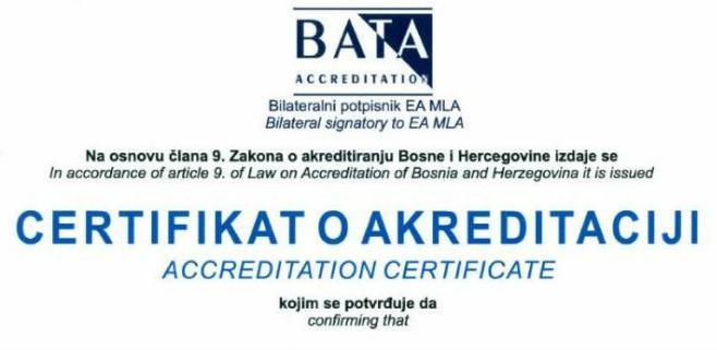Laboratoriju INZ-a uručen certifikat o akreditaciji