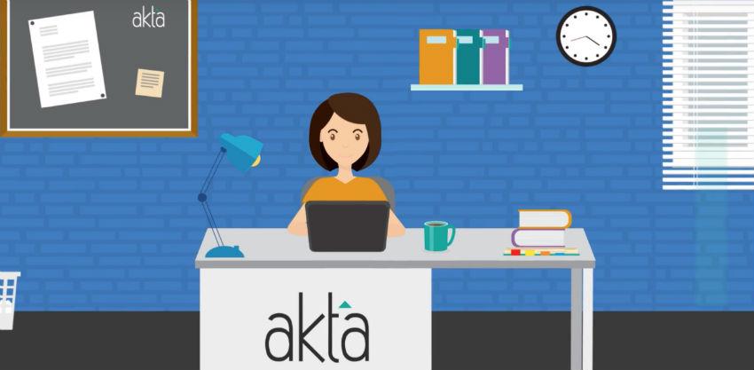 Uz pomoć interaktivnog videa izvršite prijavu i registraciju na portal Akta.ba