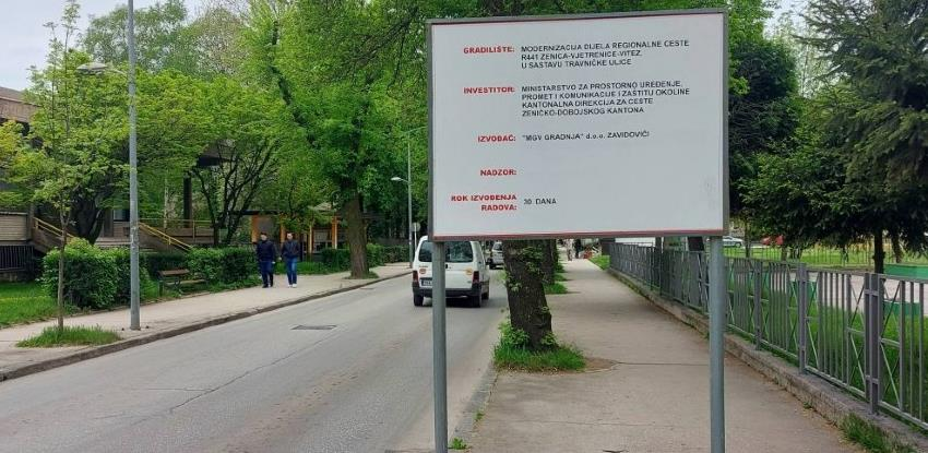 Počinje rekonstrukcija Travničke ceste na putu Zenica - Vjetrenice - Vitez