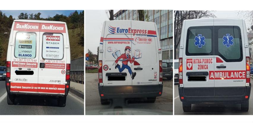 Izmjene: Reklama može i na stakleni dio zadnjih vrata privrednih vozila