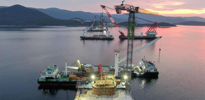 Iz Kine stižu prvi segmenti rasponske konstrukcije Pelješkog mosta