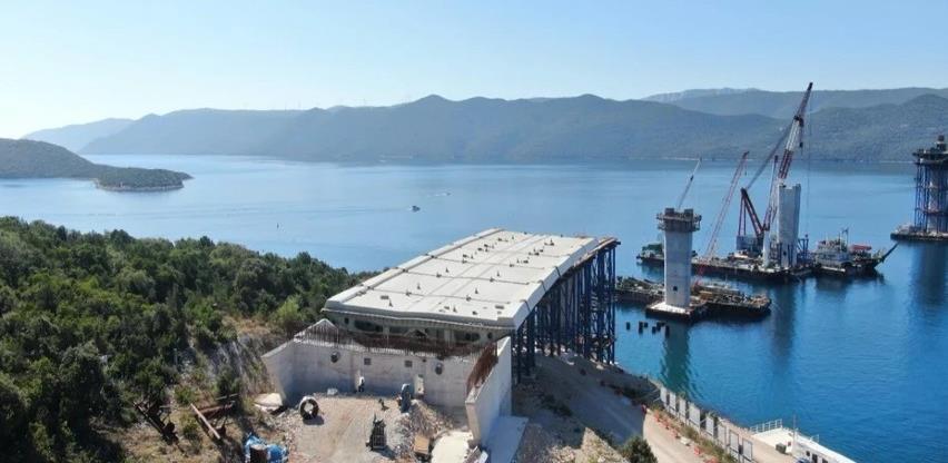 Butković: Izgradnja Pelješkog mosta napreduje uspješnom dinamikom