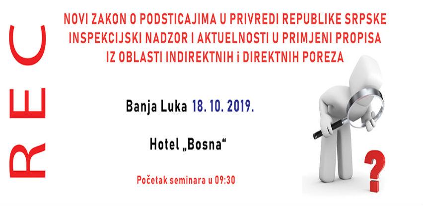 Novi Zakon o podsticajima u privredi Republike Srpske