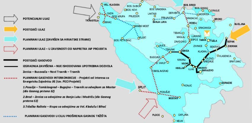 Počinju aktivnosti na izgradnji gasovoda Južna interkonekcija BiH - Hrvatska