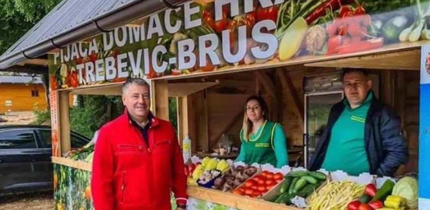Na Trebeviću počeo sa radom prvi štand pijace domaće hrane