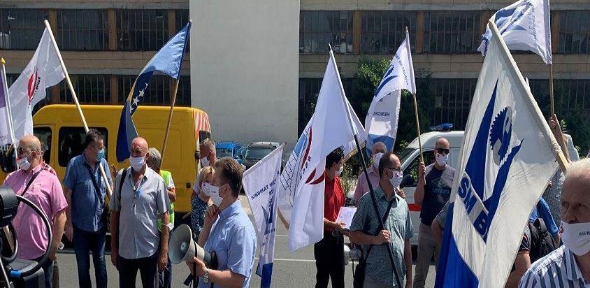 Počeo protest sindikalista u Sarajevu