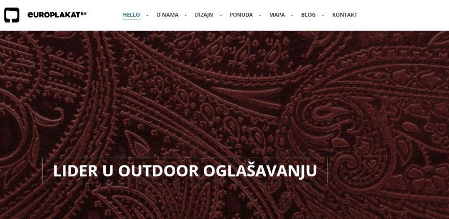 Kompanija Europlakat redizajnirala svoju web stranicu
