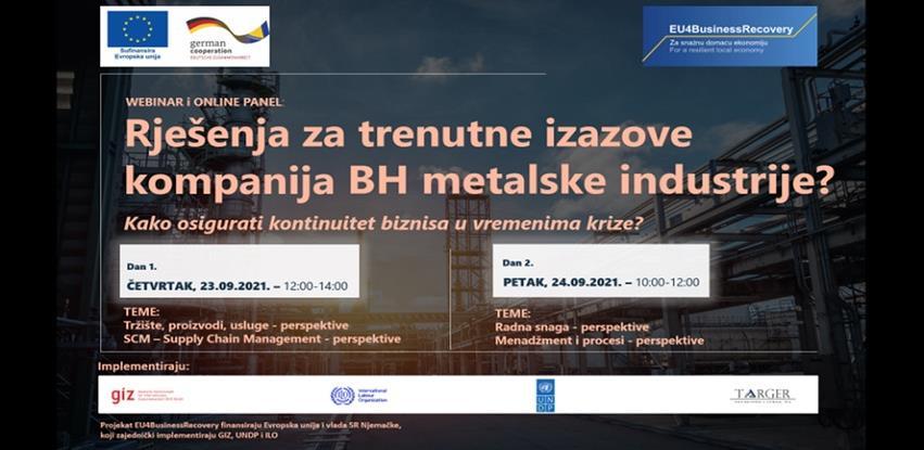 Webinar: Rješenja za trenutne izazove kompanija bh. metalske industrije