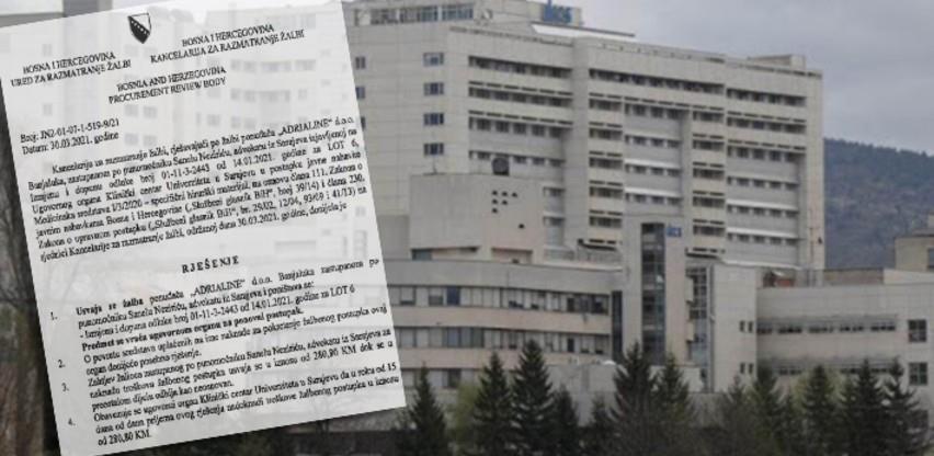 Poništeno niz tendera KCUS-a zbog utvrđenih nezakonitosti
