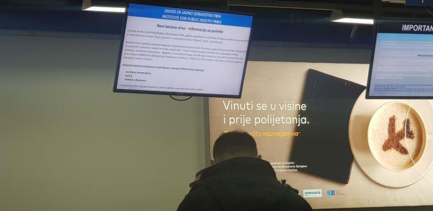 Na Međunarodnom aerodromu Sarajevo postavljen punkt za skeniranje putnika